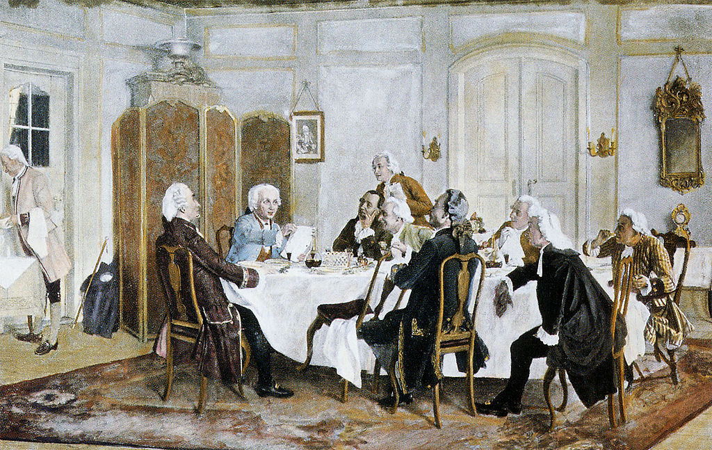 Kant and Friends at Table, Painting by Emil Doerstling, 1892/1893