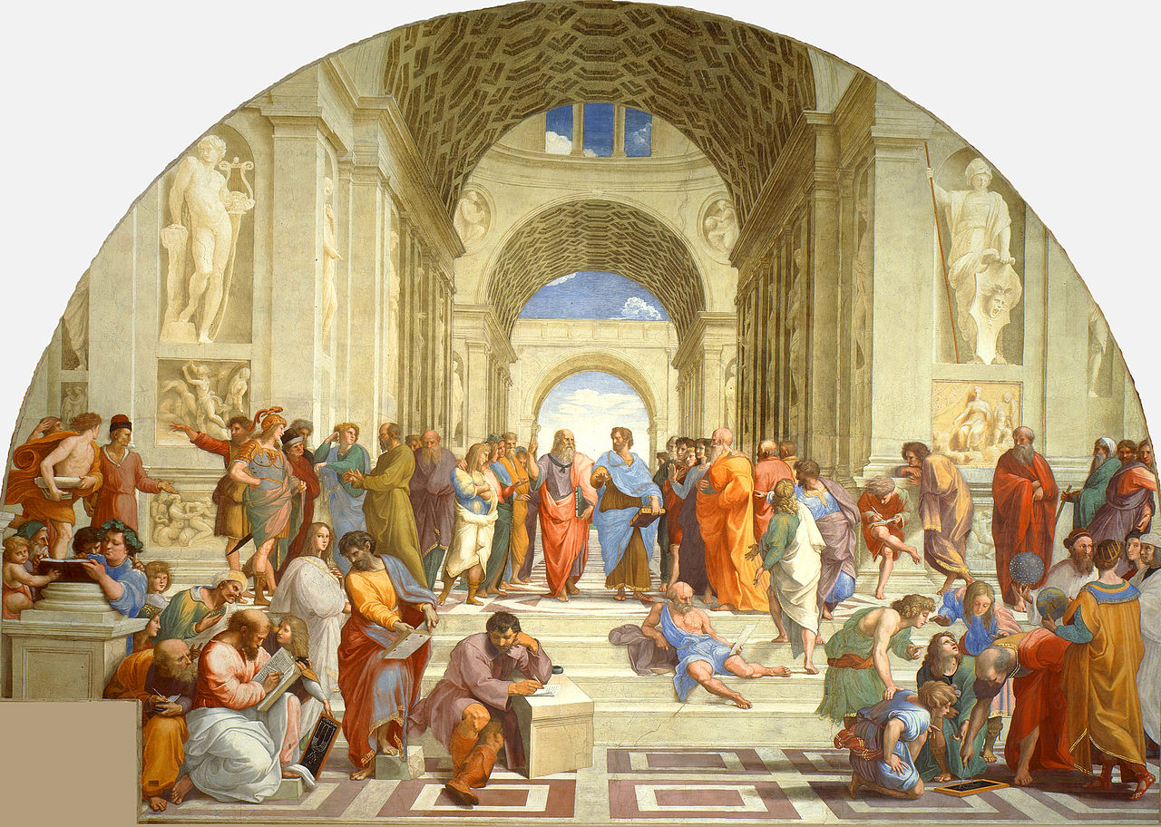 School of Athens, Fresco from the Apostolic Palace, Vatican City
